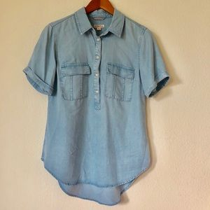 Merona Lightweight Blue Short Sleeve | M